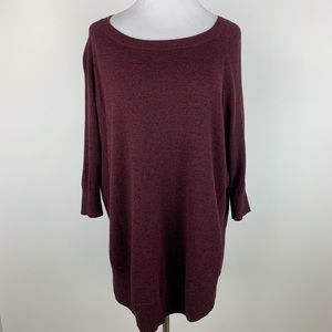 Express NWOT space dyed short sleeve sweater S